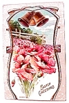 Click here to enlarge image and see more about item epc2: Easter Flowers Bells Postcard 1913