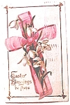 Easter Blessings Postcard 1910