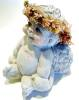 Click to view larger image of Dreamsicles sitting Christmas angel ceramic figurine (Image2)