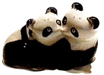 Kissing Pandas Ceramic Figurine
