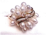 Click here to enlarge image and see more about item fj2: 14k Pearl cluster ring