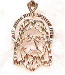 14K gold Christ Jesus face pendant