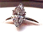 Click to view larger image of 14 Karat Gold  Marquise Cut Cubic Zirconia Ring (Image1)