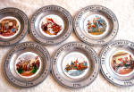 Click here to enlarge image and see more about item garplt1: The Great American Revolution Pewter Plate set (6)