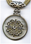 Celtic design vintage rhinestone pendant necklace