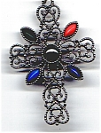 Click here to enlarge image and see more about item jcavhtcr2: Avon  heart design ornate cross