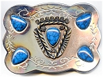 Native American design belt buckle