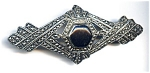 Silver plate antique look brooch or pin