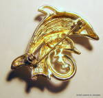 Click to view larger image of Dolphin mother and baby vintage brooch or pin (Image2)