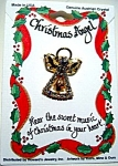 Christmas angel with bell crystal pin