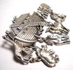 Click to view larger image of Noah's Ark vintage pewter brooch or pin (Image3)