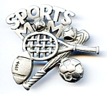 Sports Mom brooch or pin