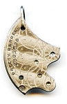 Click to view larger image of Steampunk antique pocket watch parts necklace pendant (Image1)