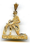 Click here to enlarge image and see more about item jf34aquar: Aquarius 14K gold pendant charm