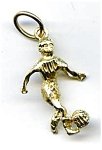 Soccer player 14k gold pendant charm