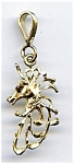 14K Gold Unicorn Head Pendant Charm