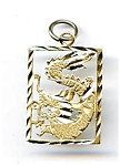 Click here to enlarge image and see more about item jf51drag: 14K Gold Dragon Charm Pendant