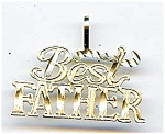 14K gold Best Father charm pendant