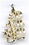 Click here to enlarge image and see more about item jf54dad: 14K Gold #1 Dad Charm Pendant