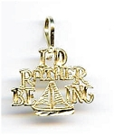 Click here to enlarge image and see more about item jf65: Sailing 14K gold pendant charm