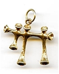 Click here to enlarge image and see more about item jfchai1: 14K gold Chai or Chi Jewish pendant