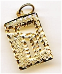 Click here to enlarge image and see more about item jfchai2: 14K gold Chai or Chi Jewish pendant