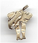 Click here to enlarge image and see more about item jfeleph1: 14K yellow gold elephant pendant