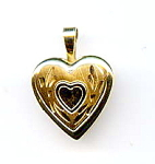 Click here to enlarge image and see more about item jfhrt2: 14K yellow gold tiny heart locket