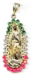 Click here to enlarge image and see more about item jfmadon1: 14K Gold Madonna Blessed Virgin Mary pendant