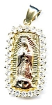 14K gold Madonna Blessed Virgin Mary pendant