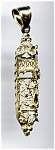 Click here to enlarge image and see more about item jfmaz60: Mezuzah 14k gold Jewish pendant