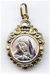 Blessed Virgin Mary Madonna 14k gold pendant