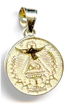 Peace Dove and Chalice 14k gold pendant