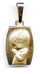 Praying child 14k gold pendant