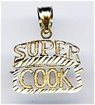 Super Cook 14k gold pendant or charm