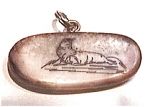 Click here to enlarge image and see more about item jiv1: Fossilized Ivory Scrimshaw Walrus Pendant