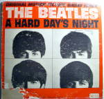 Click here to enlarge image and see more about item lpbtlhdn3: Beatles 'A Hard Day's Night' vintage vinyl lp 1964