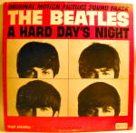 Click here to enlarge image and see more about item lpbtlshdn1: 'A Hard Day's Night' Beatles LP vinyl mono record 1964