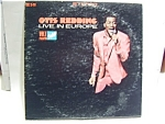 Otis Redding 'Live in Europe' vinyl lp record