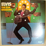 Click here to enlarge image and see more about item lpvelvis3: 'Elvis - The Sun Sessions'  vintage mono lp record