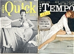 Vintage Tempo and Quick mini-magazine 1955 Lana Turner