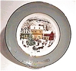 Click here to enlarge image and see more about item mcp19:  Avon 'Country Christmas' collector plate 1980