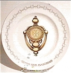 Click here to enlarge image and see more about item mcp23: 2nd Avon Anniversary Doorknocker Plate
