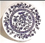 Click here to enlarge image and see more about item mcp26: Flow Blue antique Japanese plate