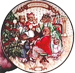 Avon 'Christmas Bears' collectible plate 1989