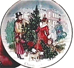 Click to view larger image of Avon Bringing Christmas Home 1990 collectible plate (Image1)