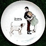 Click here to enlarge image and see more about item mcp6: Norman Rockwell Plate 'Big Brother'