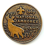 Click here to enlarge image and see more about item mdbsaj1: Boy Scouts of America  Jamboree medallion 1969