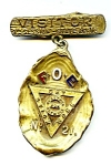 Click here to enlarge image and see more about item mdpnfoe3: F.O.E.  Eagles vintage pin medallion