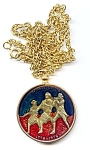 Click here to enlarge image and see more about item mdsp76gs3: Spirit of '76 Great Seal medallion with chain